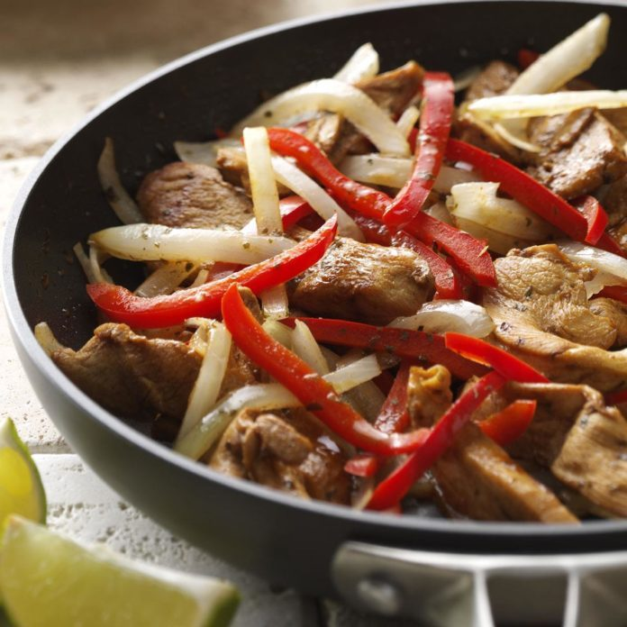 Weeknight Chicken Fajitas for Two