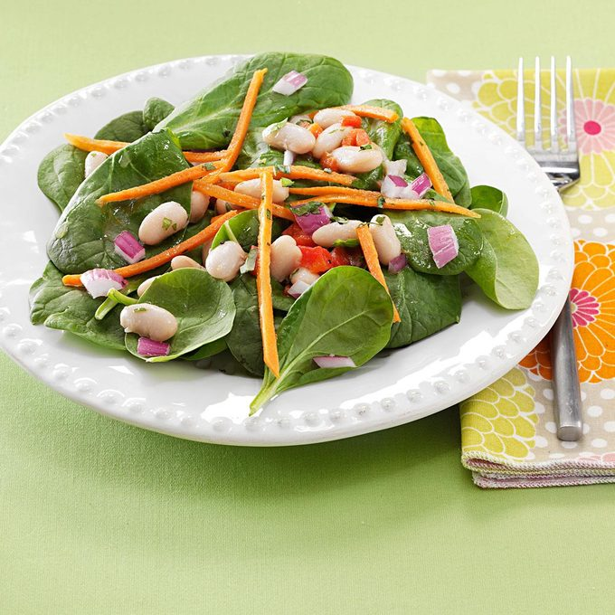 White Bean and Spinach Salads