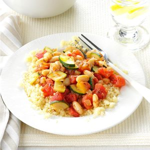White Beans and Veggies with Couscous