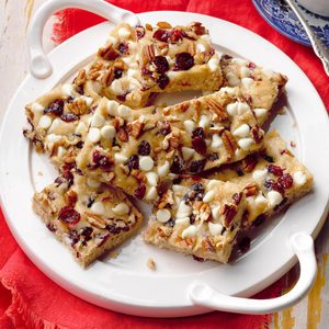 White Chip Cranberry Blondies