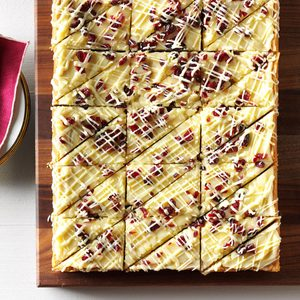 White Chocolate Cranberry Blondies