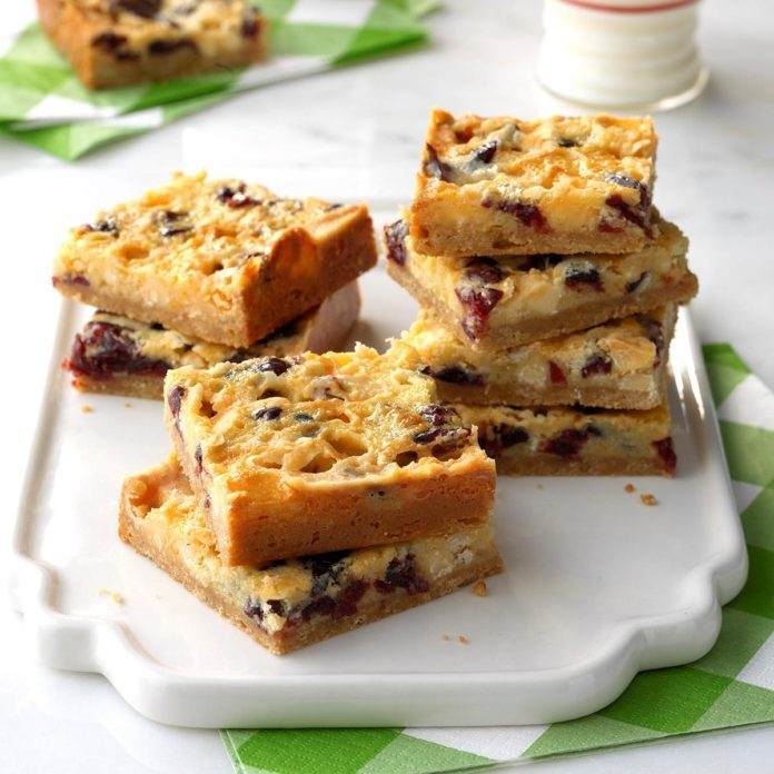 White Chocolate Cranberry-Orange Bars