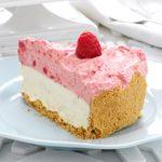 White Chocolate-Raspberry Mousse Cheesecake