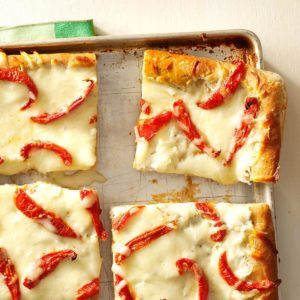 White Pizza with Roasted Tomatoes