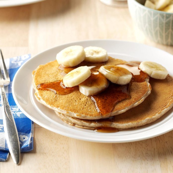 Whole Grain Banana Pancakes