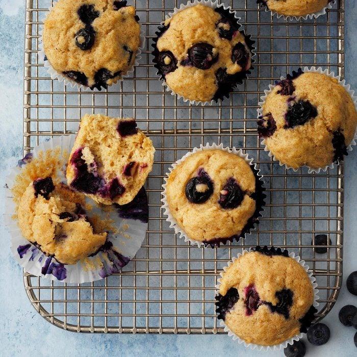 Whole Wheat Blueberry Muffins