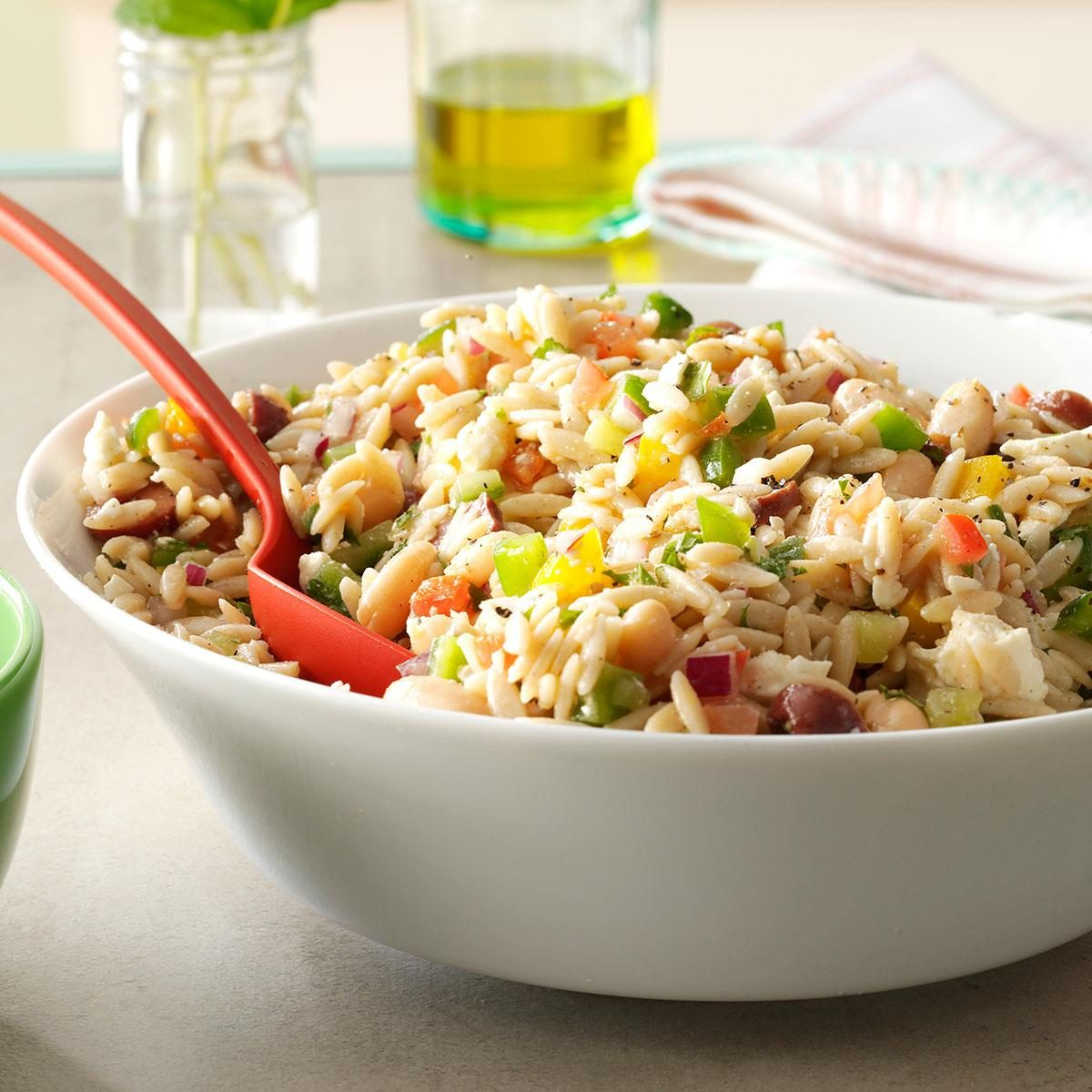 Day 16: Whole Wheat Orzo Salad