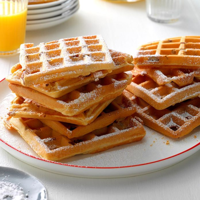 Day 2 Breakfast: Whole Wheat Pecan Waffles