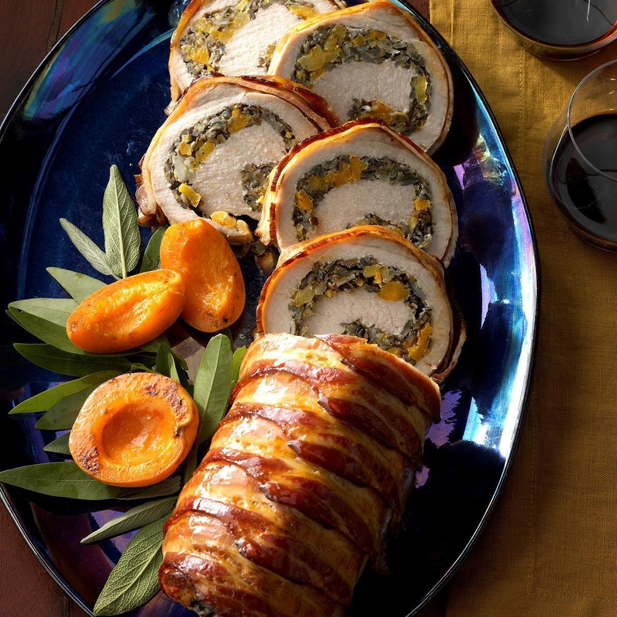 Wild Rice-Stuffed Pork Loin Recipe