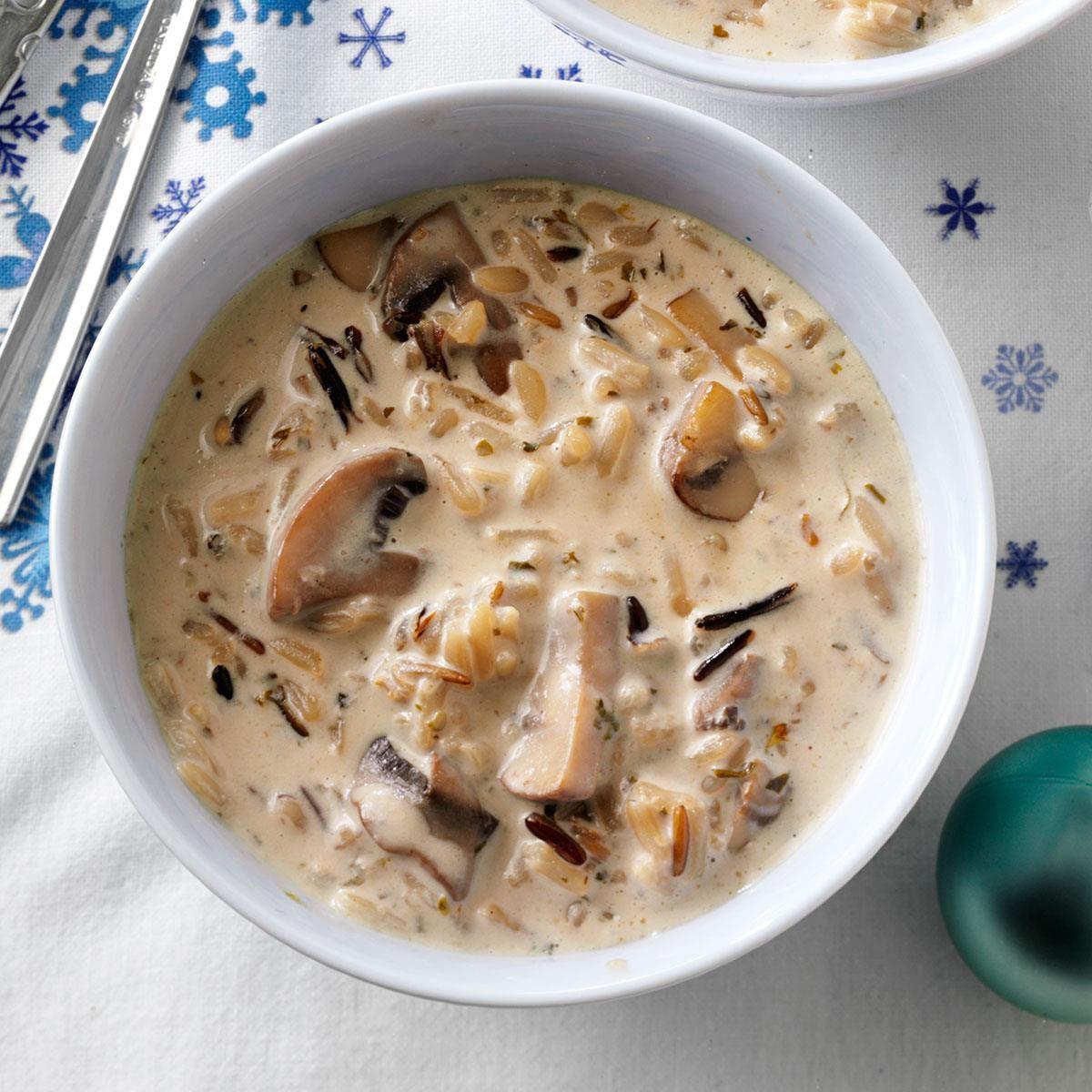 Kentucky: Wild Rice and Mushroom Soup