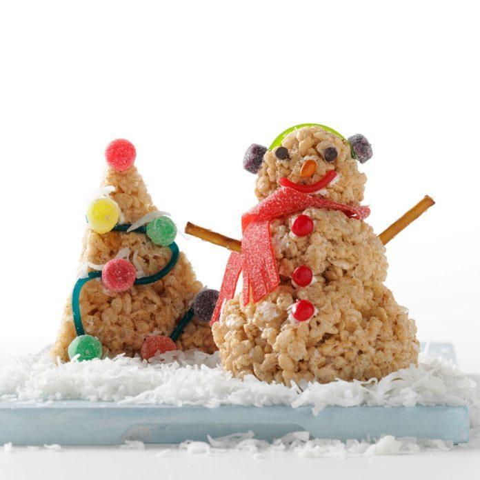 Winter Wonderland Cereal Treats