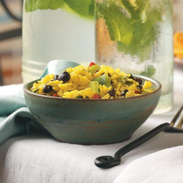 Yellow Rice & Black Bean Salad