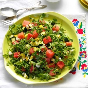 Yellow Squash & Watermelon Salad