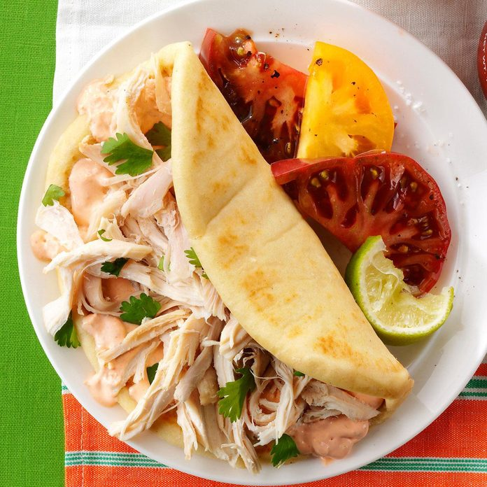 Zesty Chicken Soft Tacos