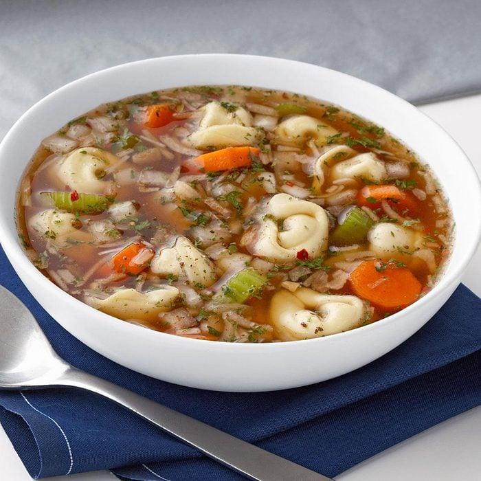 Zesty Chicken Tortellini Soup