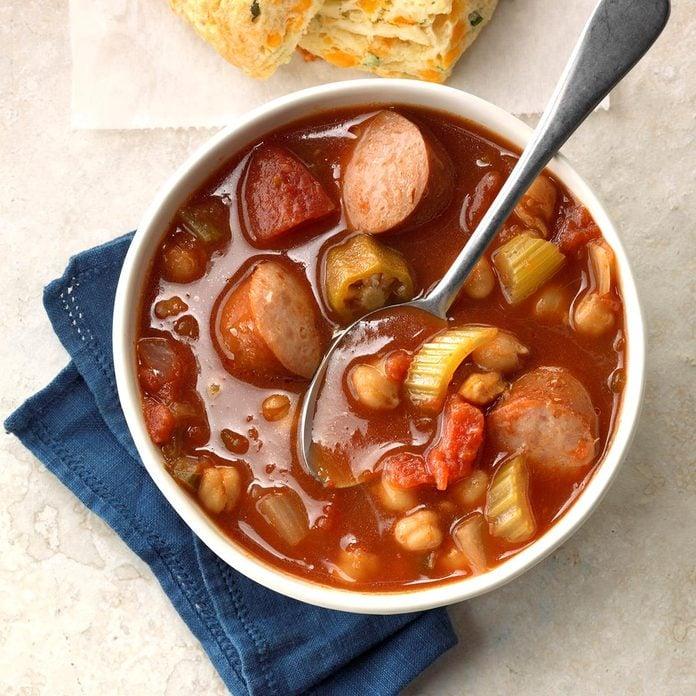 Zesty Garbanzo Sausage Soup Exps Ssbz18 74851 C04 13  2b 1