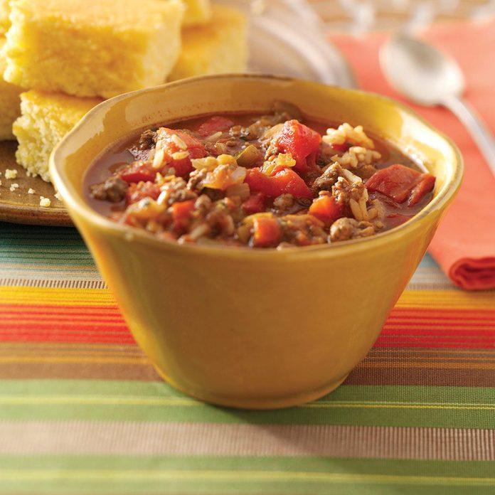 Zippy Spanish Rice Soup