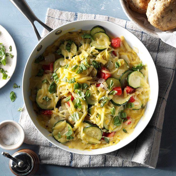 Zucchini & Gouda Skillet Frittata