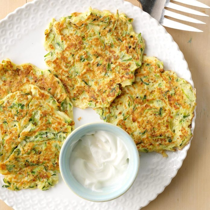 Tuesday's Breakfast: Zucchini Pancakes