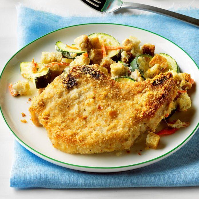Zucchini Pork Chop Supper