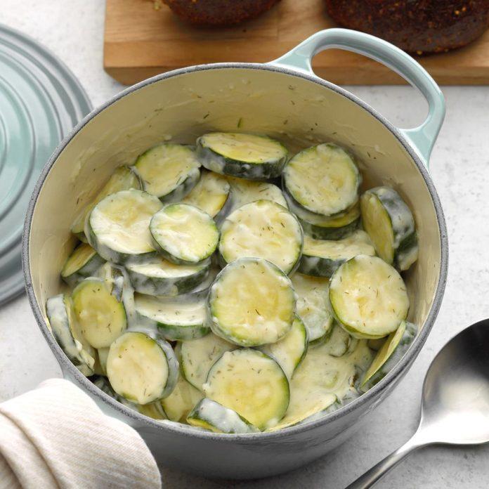 Zucchini in Dill Cream Sauce