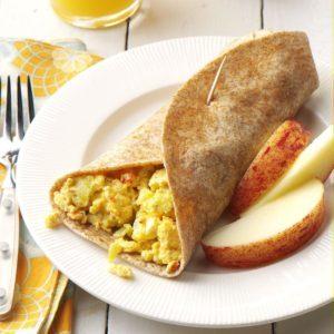 Feta Scrambled Egg Wraps