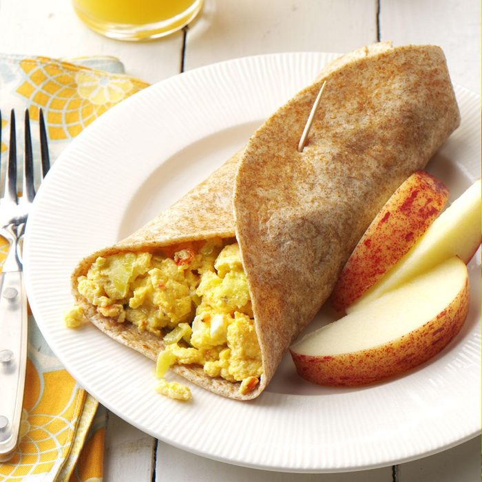 Feta Scrambled Egg Wraps