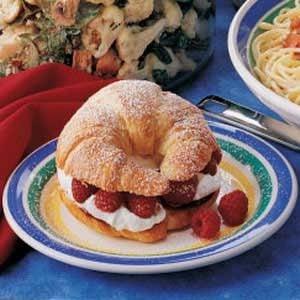 Raspberry Cream Croissants