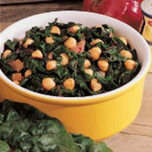 Warm Bean and Chard Salad