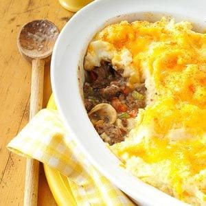 Mashed Potato Beef Casserole