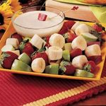 Fruit with Yogurt Dip