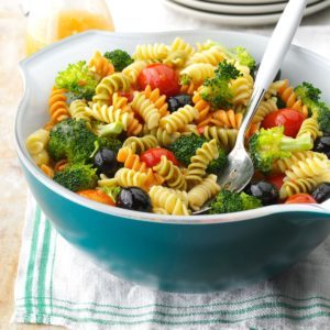 Colorful Spiral Pasta Salad