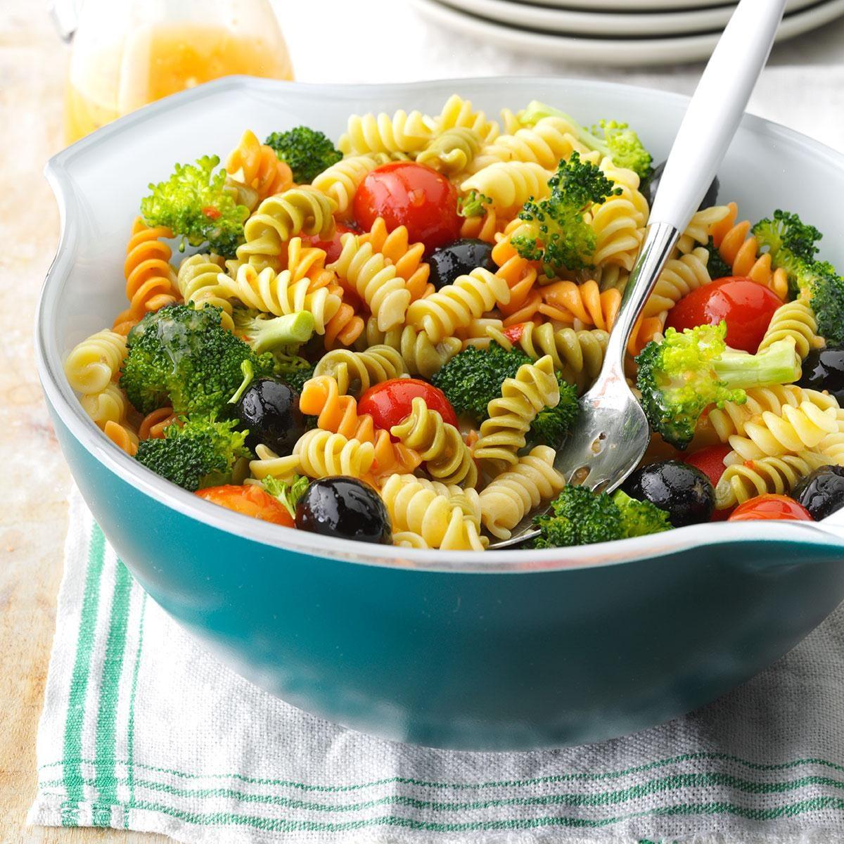 Colorful Spiral Pasta Salad