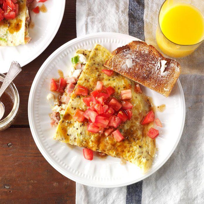 Ham & Feta Omelet