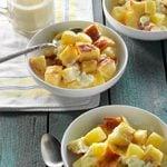 Pineapple & Cream Cheese Bread Pudding