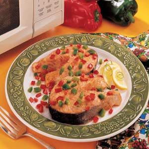 Confetti Salmon Steaks
