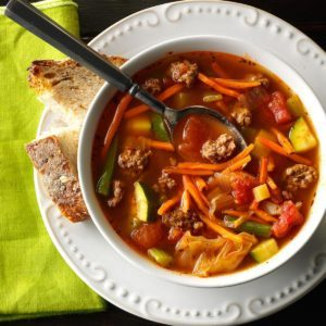 Garden Vegetable Beef Soup