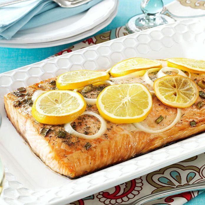 Illinois:  Lemon Grilled Salmon