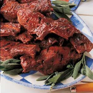 Barbecued Sage Spareribs