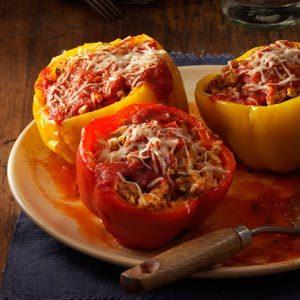 Slow Cooker Turkey Stuffed Peppers