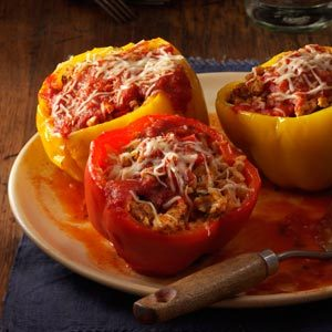 Slow Cooker Turkey Stuffed Peppers