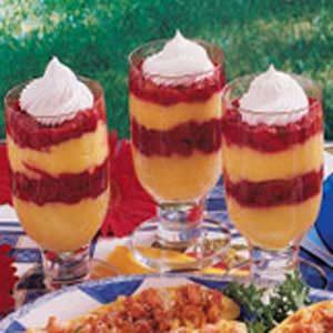 Raspberry Pudding Parfaits