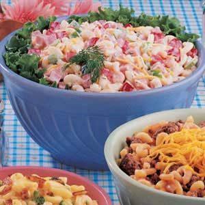Ham and Shrimp Macaroni Salad
