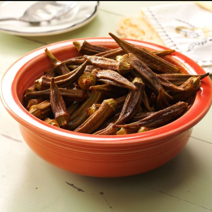 Okra Roasted with Smoked Paprika