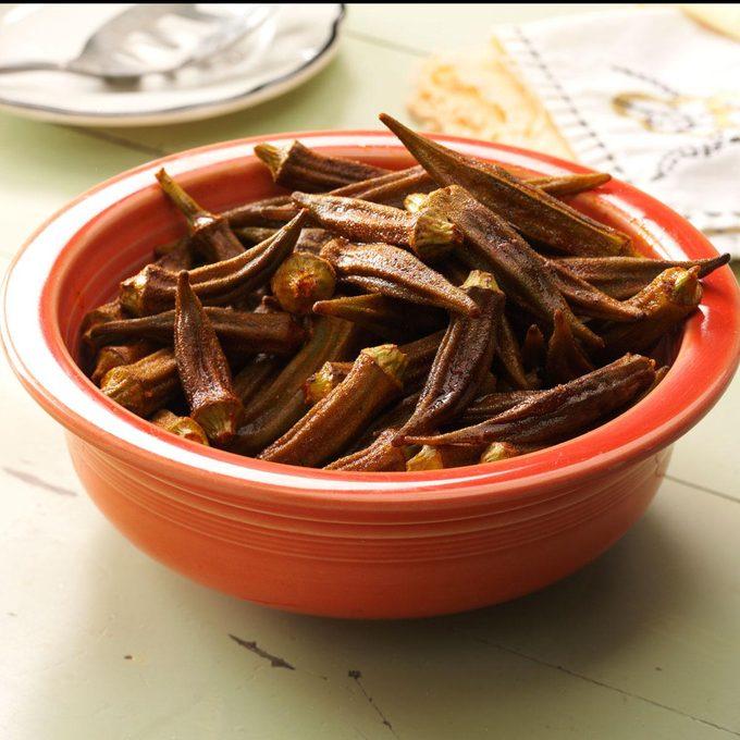 Okra Roasted with Smoked Paprika