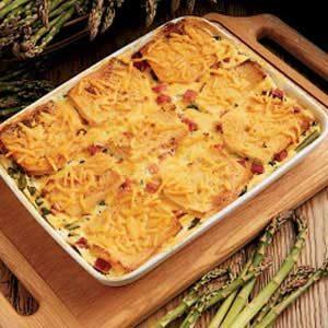 Asparagus Cheese Strata Main Dish