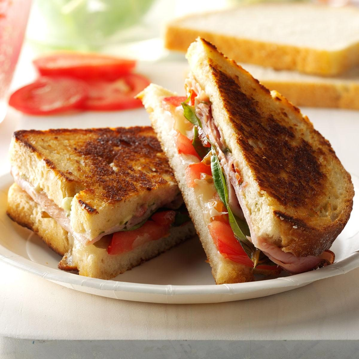 Thursday: Grilled Pesto, Ham and Provolone Sandwiches