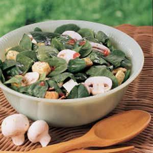 Fresh Mushroom Spinach Salad