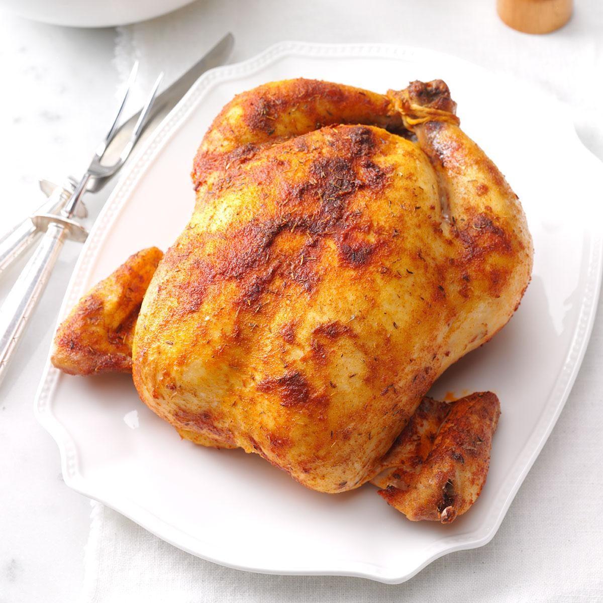 Savory Rubbed Roast Chicken
