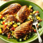 Chicken with Mango-Cucumber Salsa